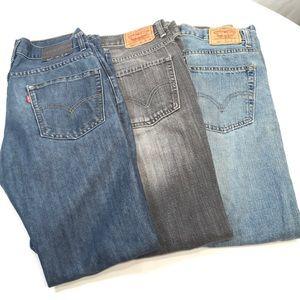 Levi's Jeans Boys 14 Reg Bundle of 3 pair 29 x 29